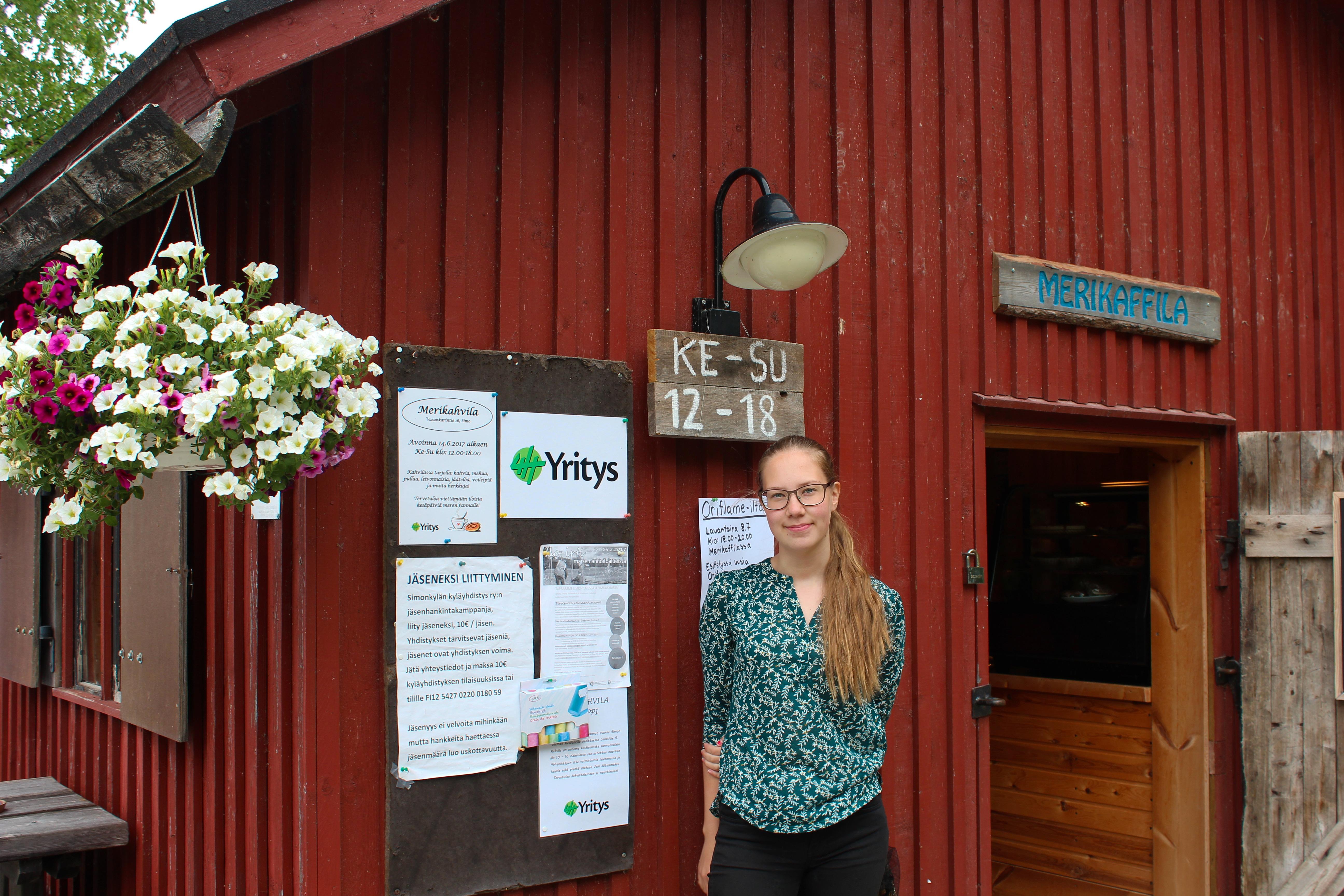 Emma Vuorimaa on nuori 4H-yrittäjä.
