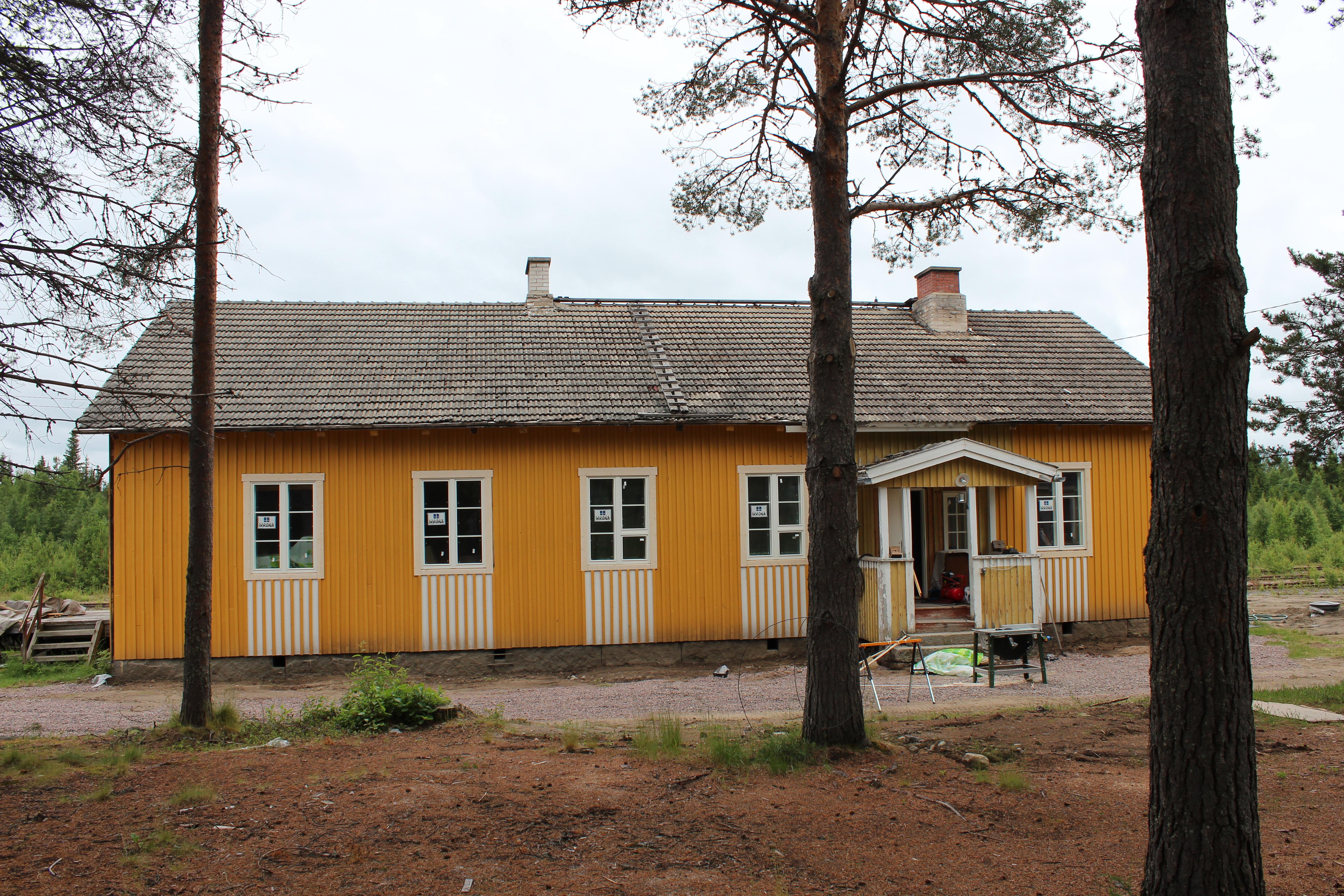 Joutsijärven vanhaa asemaa remontoidaan kylätaloksi.