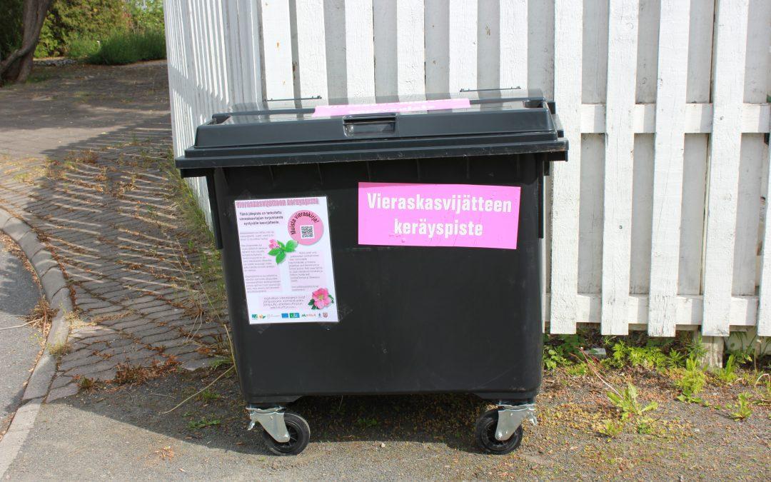 Vieraskasvien torjuntaan helpotusta uusista jäteastioista