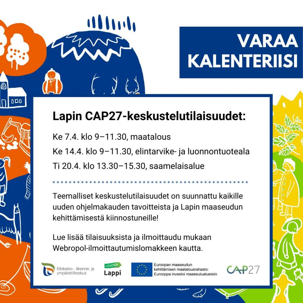CAP27-keskustelutilaisuudet, mainoskuva.