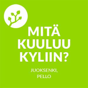 Mitä kuuluu kyliin -logo, Juoksenki, Pello.