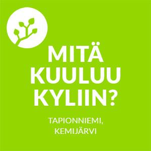 Mitä kuuluu kyliin -logo, Tapionniemi, Kemijärvi.