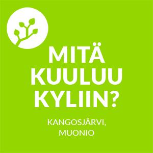 Mitä kuuluu kyliin? -logo, Kangosjärvi, Muonio.